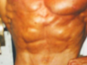 Bodybuilder John Quinlan abdominals 1998 Natio...