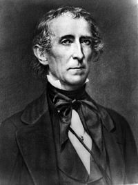 John Tyler, the first to assume the Presidency following the death of the President