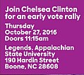Join Chelsea Cinton for an early vote rally October 27.jpg