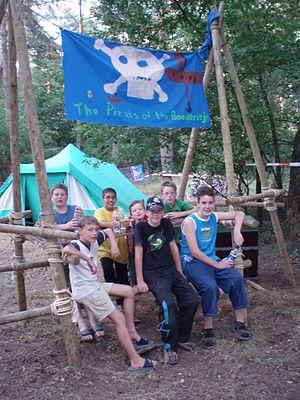 """Jong Nederland - """"Maxioren"""" group at a camp of Jong Nederland"""