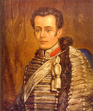 Convictorio Carolino - Portrait of José Miguel Carrera, alumnus of the Convictorio