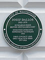 Josef Dallos 1905-1979 Hungarian born British ophthalmologist invented living eye impression technique 1930. First contact lens only practice here 1937-1964.JPG