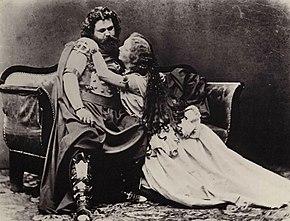 Joseph Albert - Ludwig ve Malwine Schnorr von Carolsfeld - Tristan und Isolde, 1865f.jpg