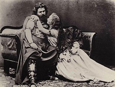 Joseph Albert - Ludwig und Malwine Schnorr von Carolsfeld - Tristan und Isolde, 1865f.jpg