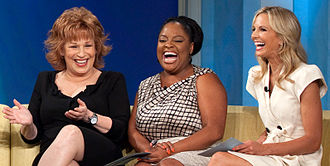 Sherri Shepherd - Shepherd (center) on The View with Joy Behar and Elisabeth Hasselbeck.