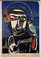 Jozef cantré, san francesco con un uccello e un pesce, 1926 (catharijneconvent, utrecht).JPG