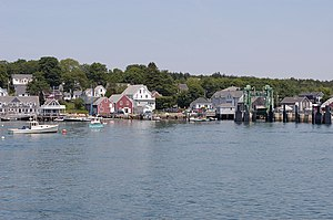 North Haven, Maine - Harborfront and ferry terminal, 2005