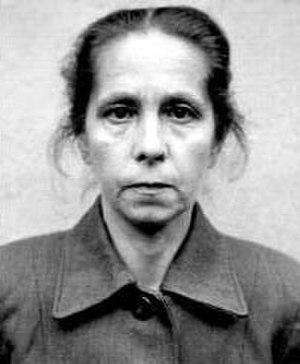 Juana Bormann - Mugshot of Borman in August 1945, while she was awaiting trial
