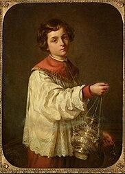0ea45bba8e986 Figure du XIX e siècle   « Enfant de chœur » agitant l encensoir