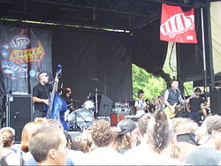 Tiger Army am 24. Juli 2007 im Verizon Wireless Virginia Beach Amphitheater auf der Warped Tour 2007.
