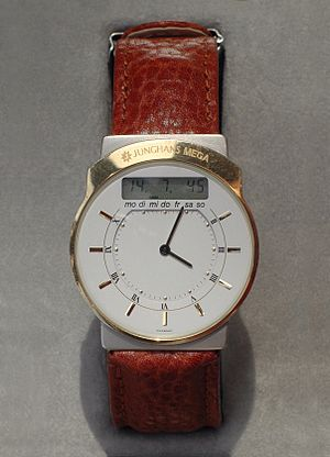 Radio clock - Image: Junghans Mega