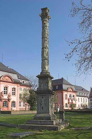 Jupiter Column - Jupitersäule outside the parliament at Mainz (Reconstruction, original is in the Landesmuseum Mainz)