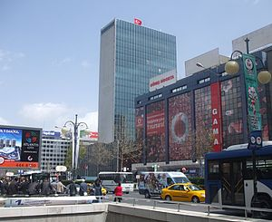 Kahramanlar Business Center - Kahramanlar Business Center at Kızılay Square in Ankara was one of the first International Style highrise buildings in Turkey.
