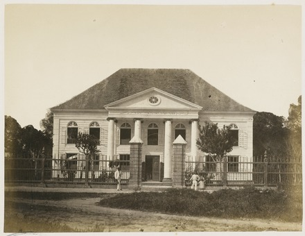A Jewish synagogue in Suriname KITLV - 12680 - Dutch Israelite synagogue in Paramaribo - circa 1890.tif