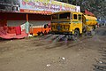KMC Controlling Dust By Sprinkling Water - Gangasagar Fair Transit Camp - Kolkata 2016-01-09 8546.JPG