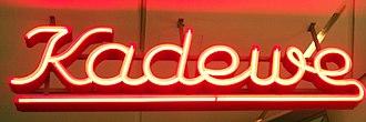 Kaufhaus des Westens - Former neon sign