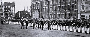 Lübeck Hauptbahnhof - German Empreror visits Lübeck the last time on August 7, 1913