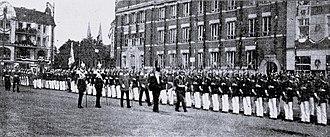 Lübeck Hauptbahnhof - German Empreror visits Lübeck the last time on August 7, 1913