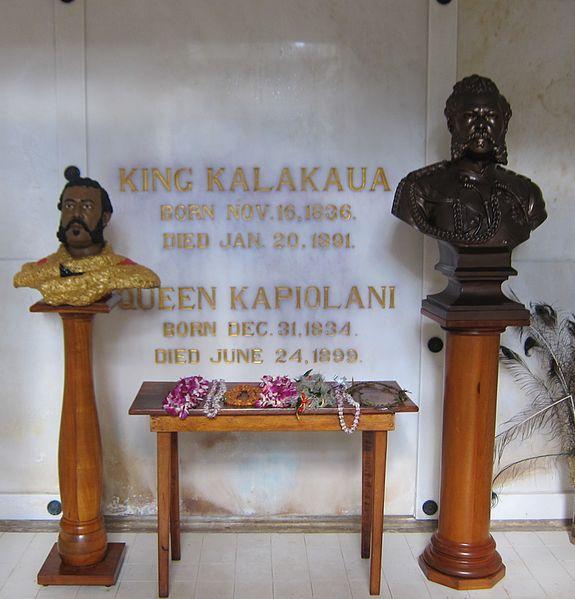 File:Kalakaua Crypt at the Royal Mausoleum of Hawaii (cropped).jpg