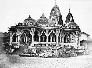 Kalupur Swaminarayan Mandir - The temple in 1866