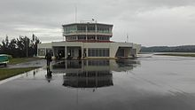 Kamembe Airport from the runway, 2017 1.jpg