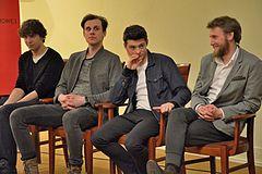 11f7fa25bbef63 Aktorzy występujący w filmie (od lewej): Kamil Szeptycki, Marcel Sabat,  Tomasz Ziętek i Karol Górski. Kamienie na szaniec ...