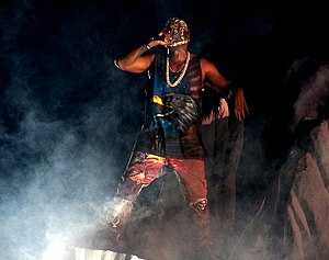 Maison Margiela - Kanye West wearing a mask and wardrobe by Maison Margiela on his 2013 Yeezus tour