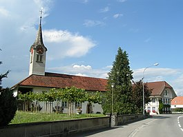 Kappelen village church and town hall