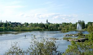 Kapuskasing River - Kapuskasing River in the town of Kapuskasing