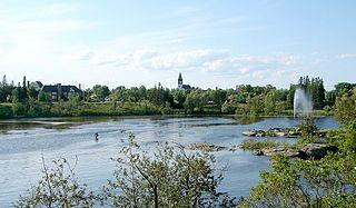 Kapuskasing Town in Ontario, Canada