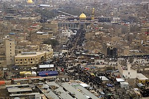 Shi'a Muslims make their way to the Imam Husayn Mosque in Karbala, Iraq in 2008.