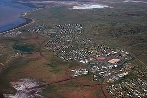 English: Aerial view of Karratha, Western Aust...