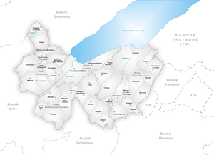 Yverdon District - Municipalities of District Yverdon
