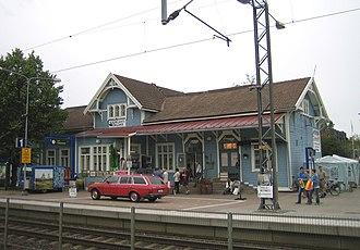 Kauklahti railway station - Image: Kauklahti railway station