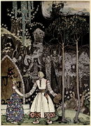 Kay Nielsen - East of the sun and west of the moon - soria moria castle - he took a long long farewell of the Princess.jpg