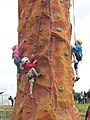 Kids climbing stack, Gathering 2009 - geograph.org.uk - 1416686.jpg