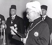 King Abdullah I of Jordan declaring independence, 25 May 1946