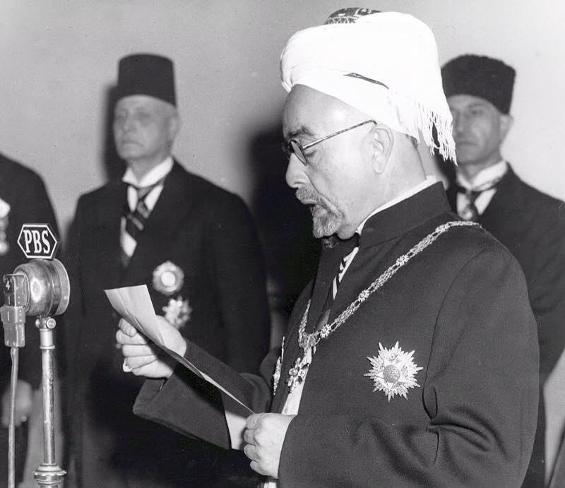 King Abdullah I of Jordan declaring independence, 25 May 1946