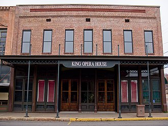 Culture of Arkansas - King Opera House, located in the Van Buren Historic District was built in the late 19th century