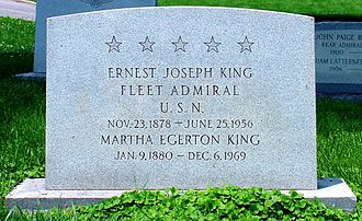 United States Naval Academy Cemetery - Grave of Ernest J. King