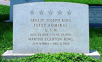 Ernest King - Grave of Admiral King
