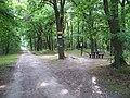Klánovický les, rozcestník u Nových Dvorů.jpg