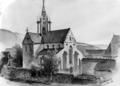 Klosterkirche Bebenhausen - Aquarell von Eduard von Kallee, 1854.png