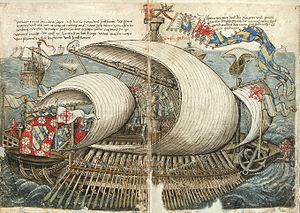 Konrad von Grünenberg - Beschreibung der Reise von Konstanz nach Jerusalem - Blatt 05v-06r.jpg