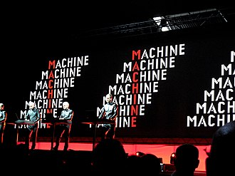 Manchester International Festival - Kraftwerk with special guest Steve Reich playing at Manchester Velodrome