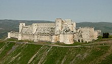 Modern photograph of Krak des Chevaliers castle
