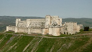 Homs - The Krak des Chevaliers, a famous world heritage site near Homs