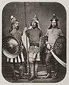Krone, Hermann - Drei Schauspieler als Rodomonth, Ferragu und Zagripont beim Schnorrfest, Dresden (Zeno Fotografie).jpg