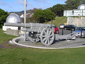 13.5 cm K 09 - Surviving Krupp 13.5cm K09 Field Gun in the Wellington Botanic Garden