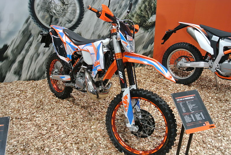 File:Ktm 200 exc with powerparts tokyo motorcycle show 2014.JPG